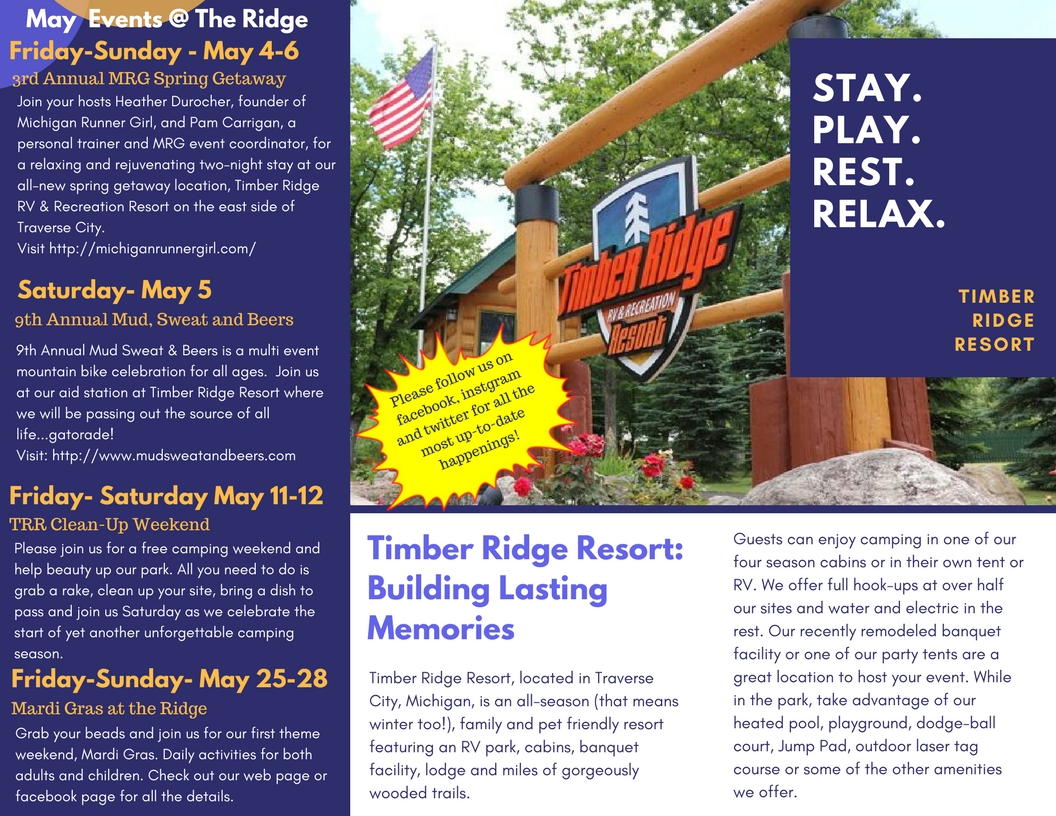 Check out our monthly newsletter with all the happenings at The Ridge
